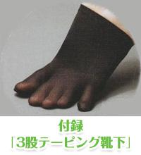 付録「3股テーピング靴下」