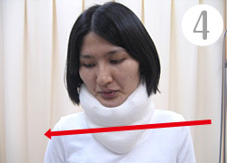 首とあごを引き締めるメカニズム(4)