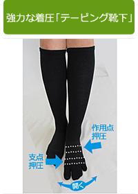 強力な着圧「テーピング靴下」