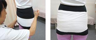股関節サラシの例