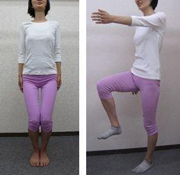 ひざ締め屈伸運動・足踏み運動